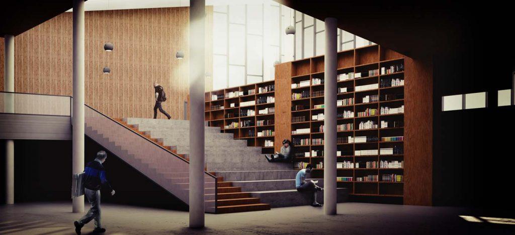 Exterior de la Biblioteca de Haro